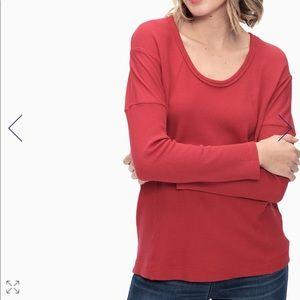 Splendid red thermal long sleeve
